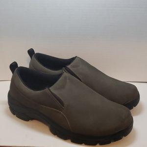 Lands End olive green shoes